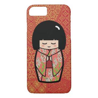 Kawaii Kokeshi (rosa) japanische Puppe iPhone 8/7 Hülle