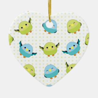 Kawaii Lineolated Parakeet-Gang Keramik Ornament
