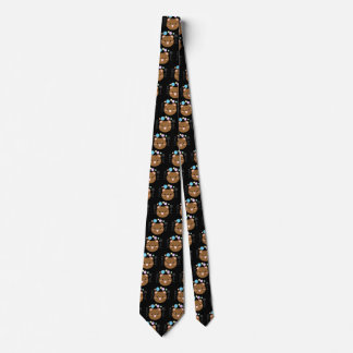 Kawaii/niedliche Bärn-Schwarz-Hals-Krawatte Individuelle Krawatte