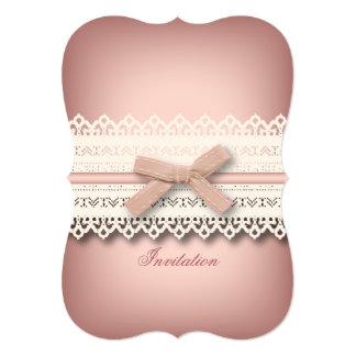 kawaii niedliche Prinzessinrosa-Bogenspitze girly 12,7 X 17,8 Cm Einladungskarte