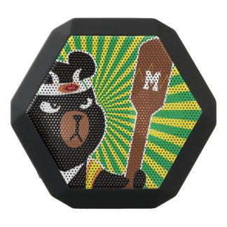 Kawaii niedlicher Ninja Bär für NerdGeeks. Schwarze Bluetooth Lautsprecher