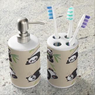 Kawaii Panda-Badezimmer-Seifen-und Zahnbürstenhalter