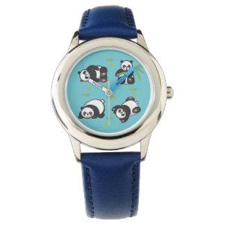 Kawaii Panda-Kinderlernen-Zeit-Uhr Uhr
