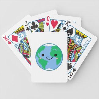 Kawaii Planeten-Erde Bicycle Spielkarten