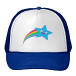 Kawaii Rave-Neonstern-Regenbogen Baseballmützen