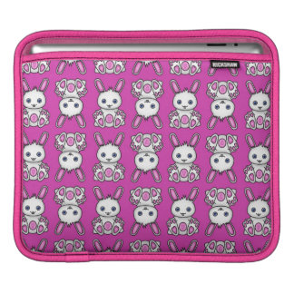Kawaii rosa Häschen-Muster iPad Sleeves