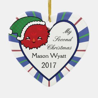Kawaii rotes Weihnachten 2017 des Keramik Ornament