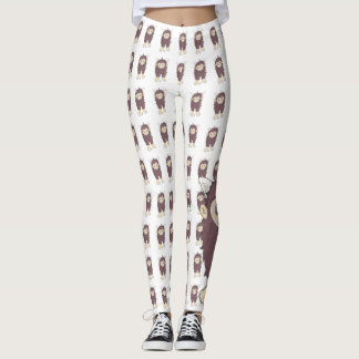 Kawaii Sasquatch (alias Bigfoot) Leggings