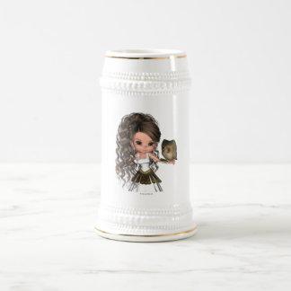 Kawaii schöne griechische Göttin Athene Bierkrug
