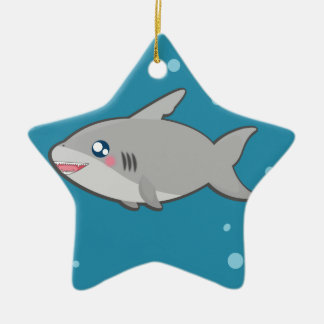 Kawaii sharky Verzierung Keramik Stern-Ornament