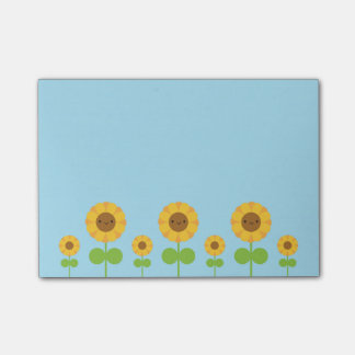 Kawaii Sonnenblumen Post-it Haftnotiz