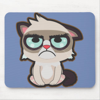 Kawaii, Spaß und lustiges grimmy Katze mousepad