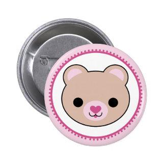 Kawaii Teddybär-Knopf Runder Button 5,7 Cm