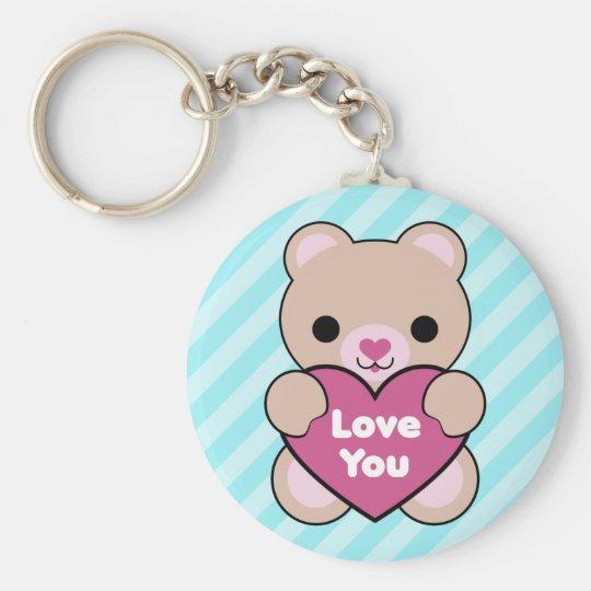 Kawaii Teddybär Standard Runder Schlüsselanhänger