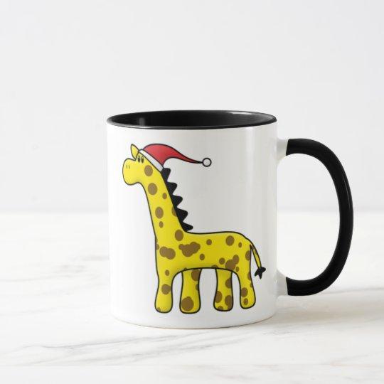 Kawaii Weihnachtsgiraffe Tasse