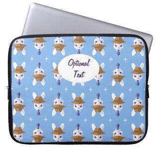 Kawaii weißes Kaninchen-adrettes Osterhasen-Muster Laptop Sleeve