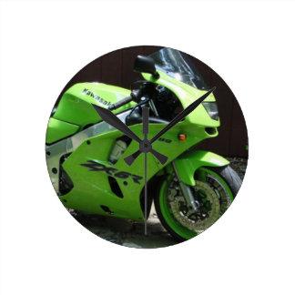 Kawasaki grünes Ninja ZX-6R Motocycle, Runde Wanduhr