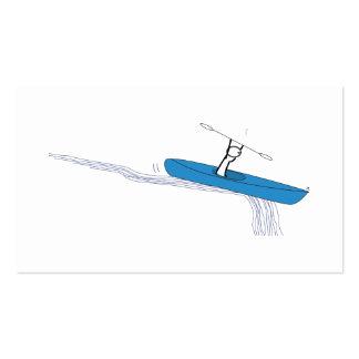 Kayaker auf dem Wasser Visitenkarten Vorlage
