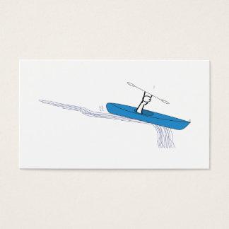 Kayaker auf dem Wasser Visitenkarten