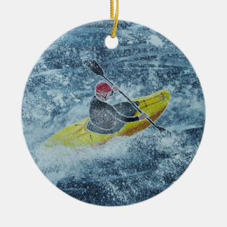 Kayaking Verzierung Rundes Keramik Ornament