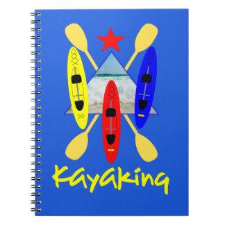 Kayaking Wasser-Sport - themenorientierte Grafik Spiral Notizblock