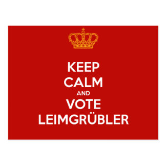 Keep Calm and VOTE Leimgrübler Postkarte