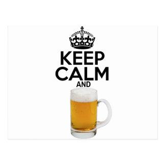 keepcalm_Beer Postkarte