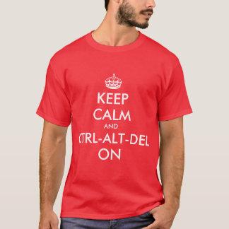 Keepcalm et CTRL sur le tee - shirt T-shirt