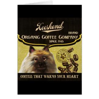 Keeshond-Marke - Organic Coffee Company Grußkarte