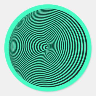Kegel-Wässerung: Täuschungs-Hypnotik-Spirale Runder Aufkleber