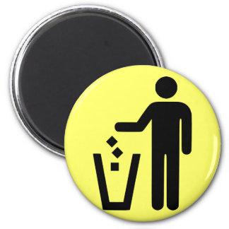 Kein Abfall Runder Magnet 5,1 Cm