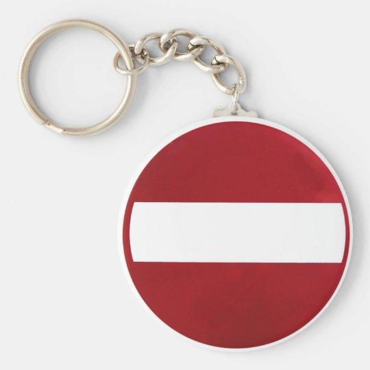 Kein Eintritts-Zeichen Standard Runder Schlüsselanhänger