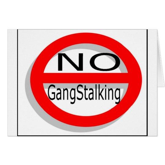 Kein Gangstalking Grußkarte