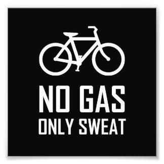 Kein Gas-Fahrrad schwitzte nur Fotodruck