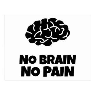 Kein Gehirn keine Schmerz Postkarte