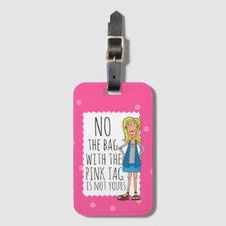 Kein ist die Tasche mit dem rosa Umbau nicht Ihre Gepäckanhänger