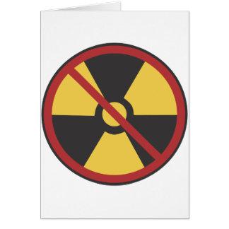 Kein Kernwaffe Grußkarte