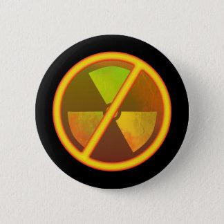 Kein Kernwaffen-glühendes Strahlungs-Symbol Runder Button 5,1 Cm