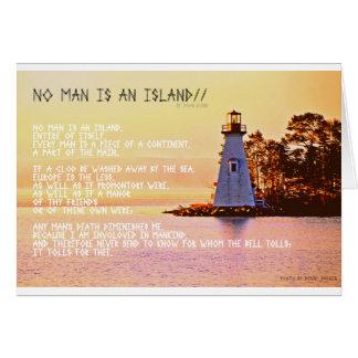Kein Mann ist eine Insel, durch John Dunne. Karte