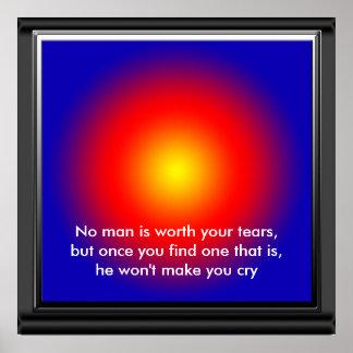 Kein Mann ist Ihre Risse. wert. Goldene Wörter Poster