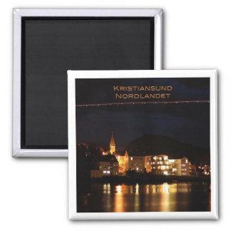 KEIN # Norwegen - Kristiansund - Nordlandet Quadratischer Magnet