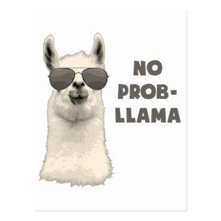 Kein Problem-Lama Postkarte