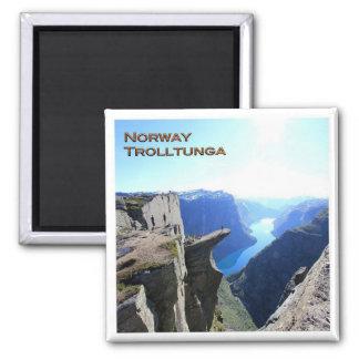 KEIN # Trolltunga - Panorama Quadratischer Magnet