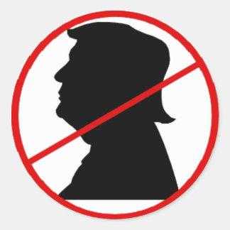 Kein Trumpfaufkleber Runder Aufkleber