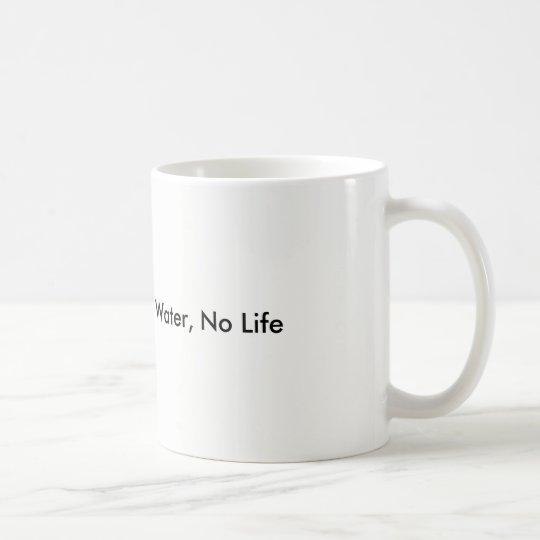 Kein Wasser, kein Leben schützt unser Wasser Tasse