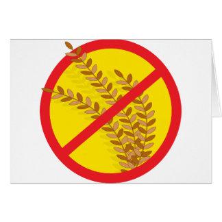 Kein Weizen Grußkarte
