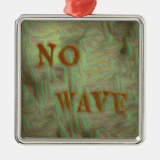 Kein Wellen-weich Grungy Entwurf Quadratisches Silberfarbenes Ornament
