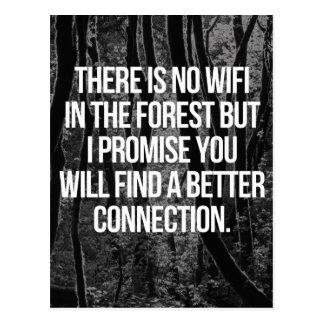 Kein WiFi im Wald Postkarte