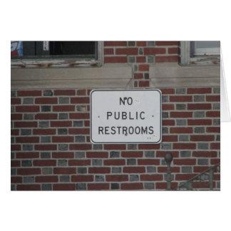 Keine allgemeinen Restrooms Karte