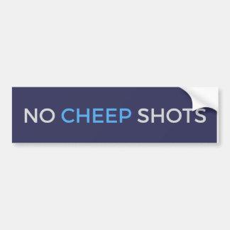 Keine Cheep-Schüsse tweeten blauer Autoaufkleber
